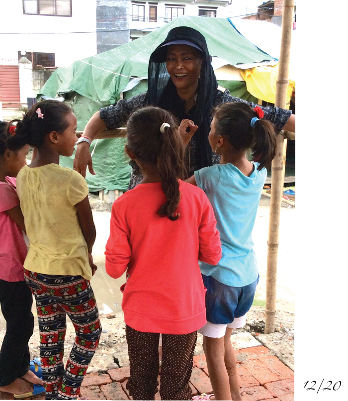 Sangita Shresta and the children of Camp Hope
