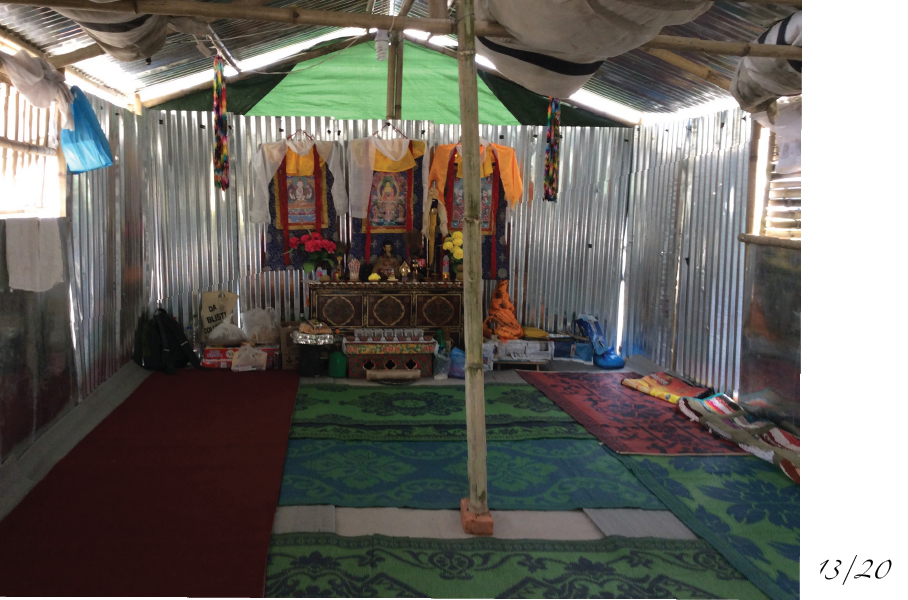 Camp Hope buddhist temple tent