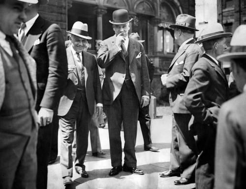 Mayor Charles H. Kline (center) on the first day of his trial in 1932. Courtesy of Pittsburgh Post-Gazette