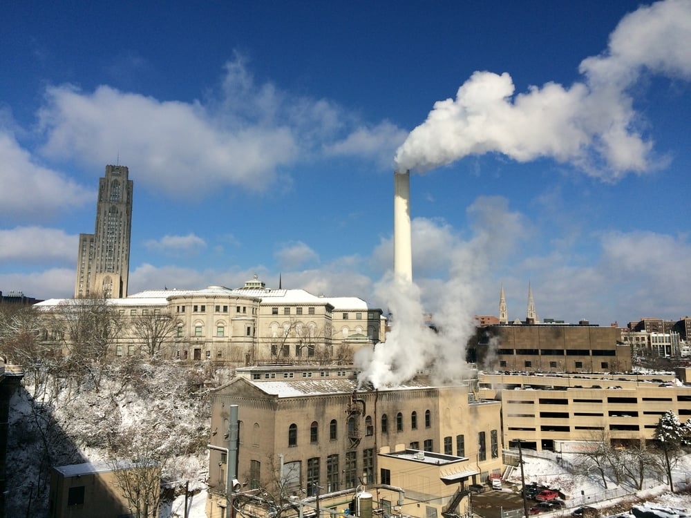 "The Bellefield Boiler Plant, whimsically nicknamed the ""Cloud Factory"" in Michael Chabon's novel ""The Mysteries of Pittsburgh,"" provides steam heat to many of Oakland's major institutions. Photo: Margaret J. Krauss"