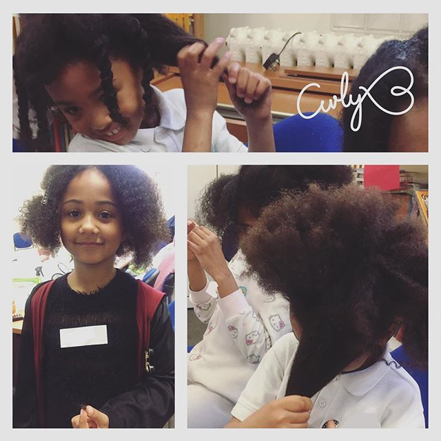 In last week's lesson we tackled detangling! The girls had fun as they practiced using their fingers and a wide tooth comb to remove those pesky knots. #curlynaturalhair #my naturalsistas #protectivehairstyles #kinkycurly #hairproducts #beauty #afro #kinkyhair #twostrandtwist #catford #healthyhairjourney #uniqueafterschoolclub #blackhair #naturalhair