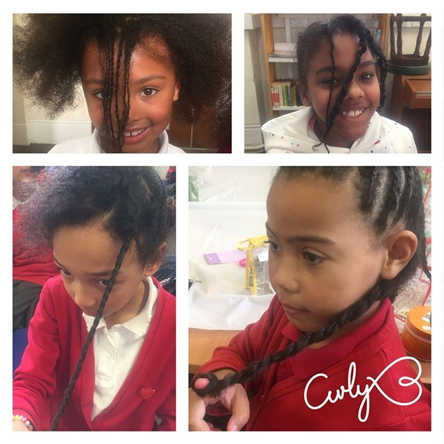 Look at those fantastic two strand twists! All the girls managed to master a basic twist and some even started to create their own styles. Well done girls!⠀ #curlyhair#type4naturalhair #mynaturalsistas#protectivestyles #kinkycurly#hairproducts #beauty #fro #kinkyhair#naturalhairstyles #twostrandtwist#healthyhairjourney #uniqueafterschoolclub #blackhair#naturalhair #catford