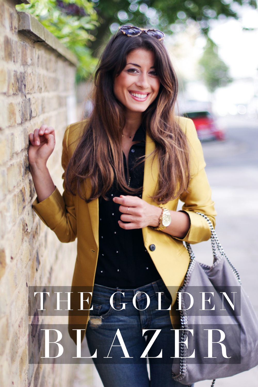 OOTD: The Golden Blazer — Mimi Ikonn
