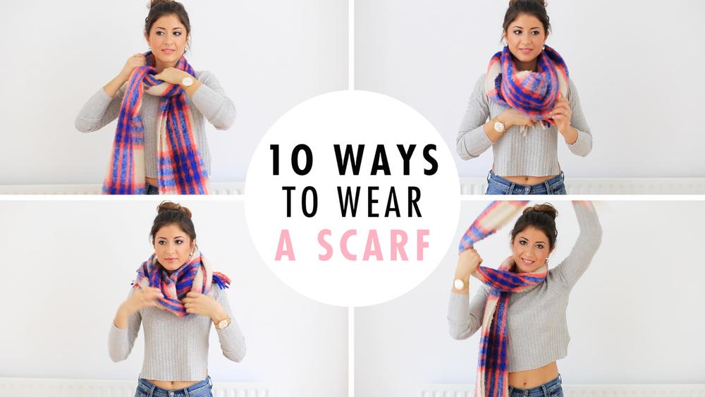 How to fashion a wear scarf