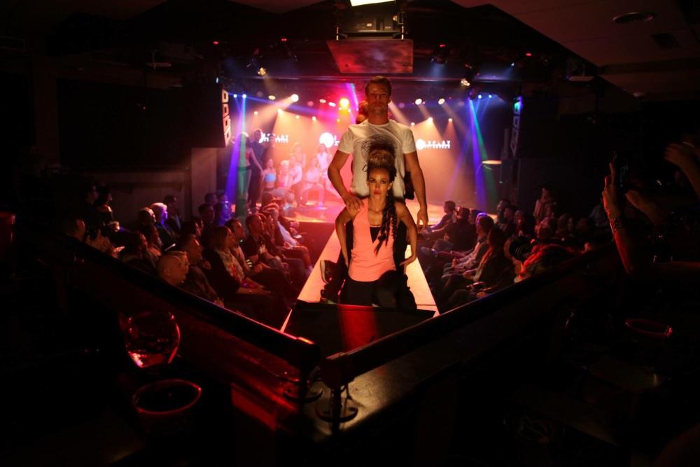 Brix Mesh Tank & Laena Legging in Cabaret Mesh!