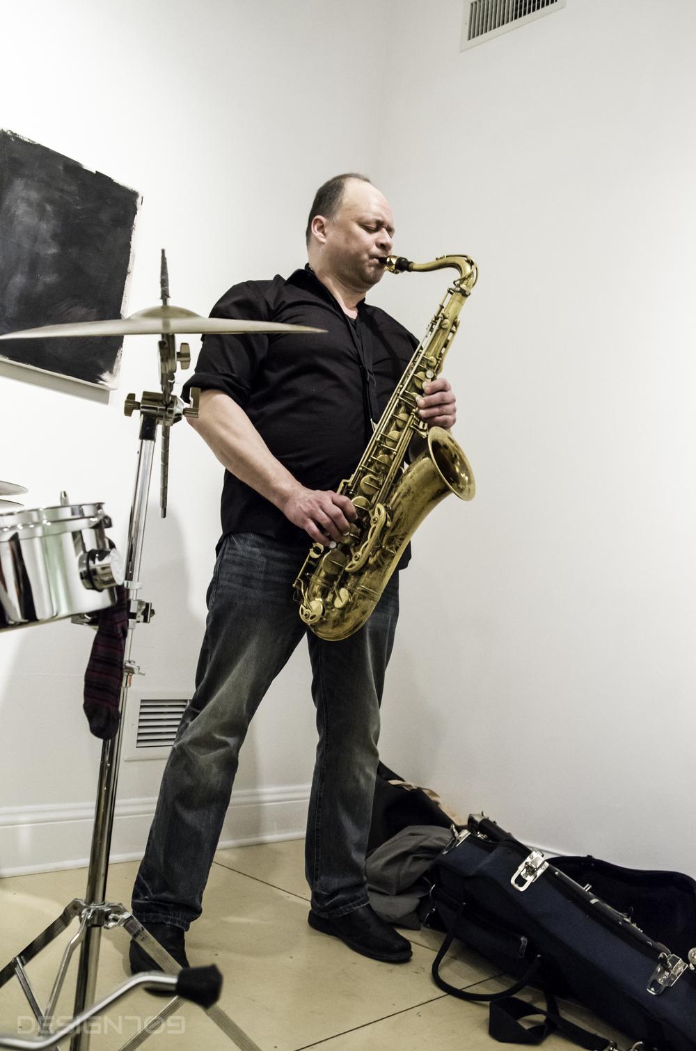 Dennis on sax!