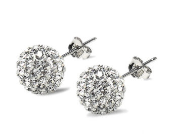 Diamonds are a girl's best friend. No but seriously. Buy a nice pair of studs for your professional look. Interviewers do not need to see that you own a pair of bamboo's.