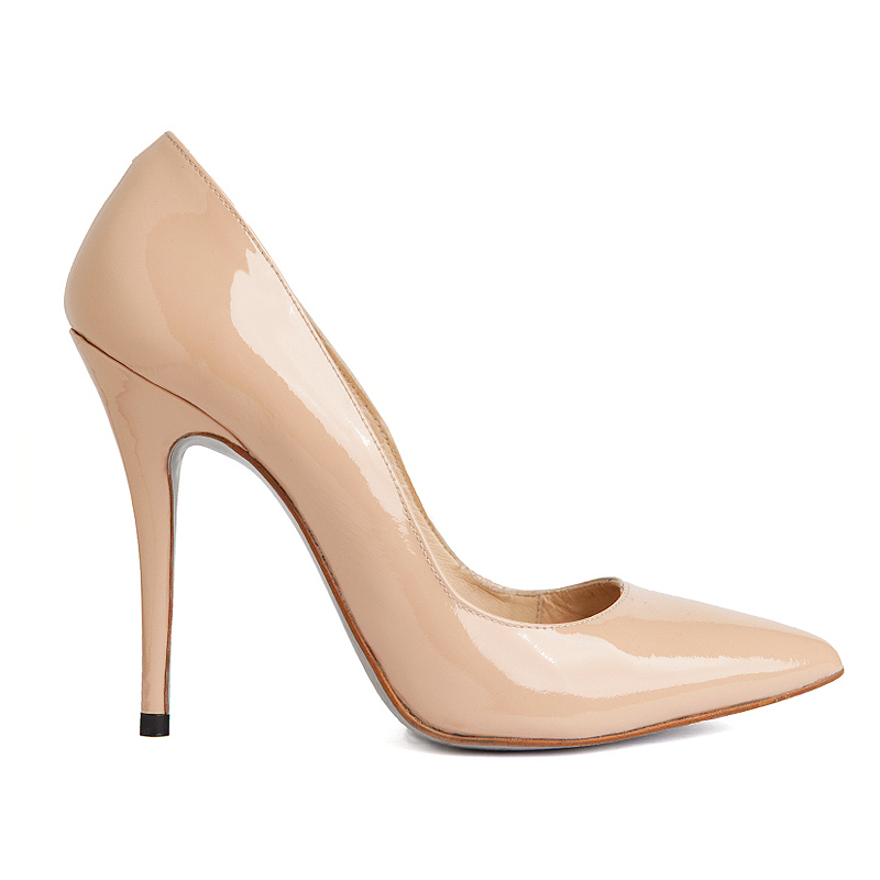 Simple nude stilettos add a modern and fashionable twist to your professional look. Along with a pair of plain black stilettos, include these into your professional wardrobe.