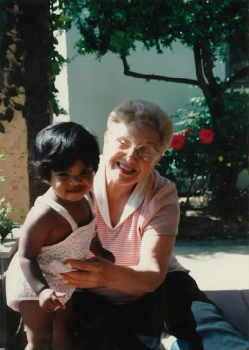 Me, as a wee little one, and Grandma Rose - October 1987