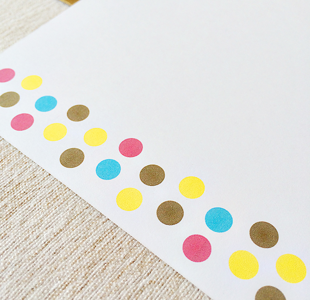 Polka Dots + Gold Personalized Stationery 02.jpg