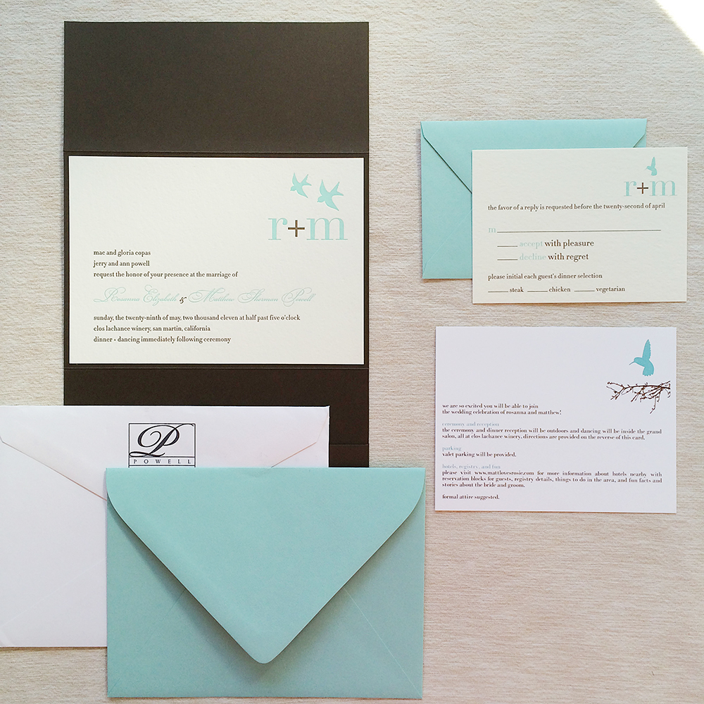 My Wedding Invitation Suite — songbird paperie