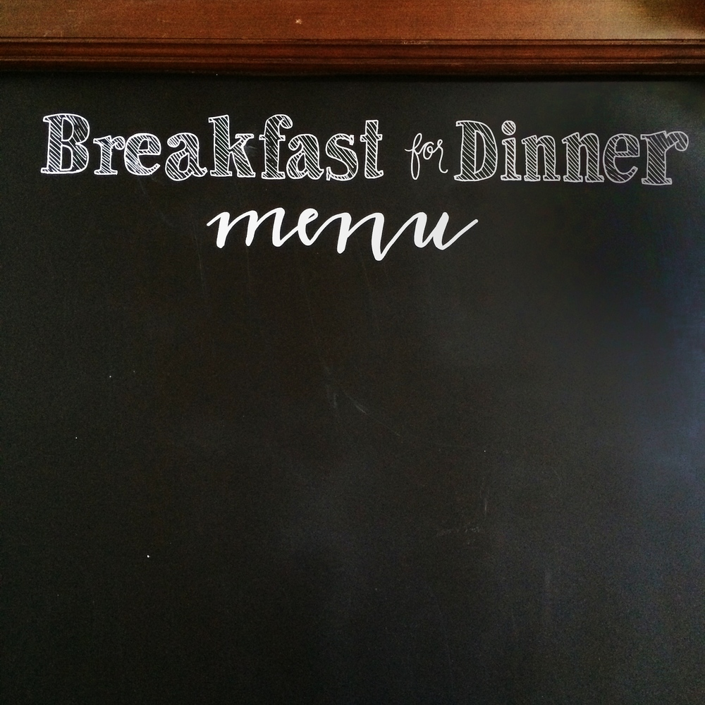 songbird chalkboard_breakfastdinner.JPG