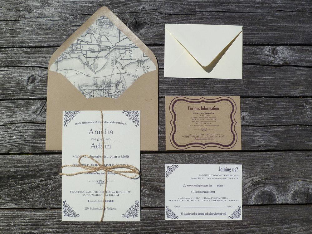 10 Fun Ideas for Unique Wedding Invitations songbird paperie