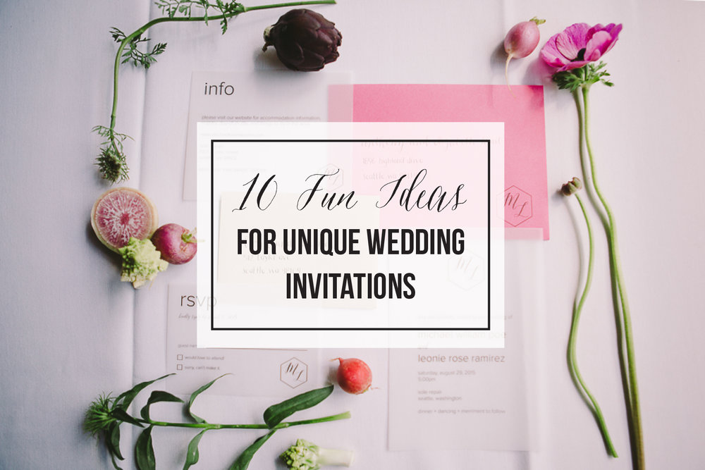 10 fun ideas for unique wedding invitations songbird paperie