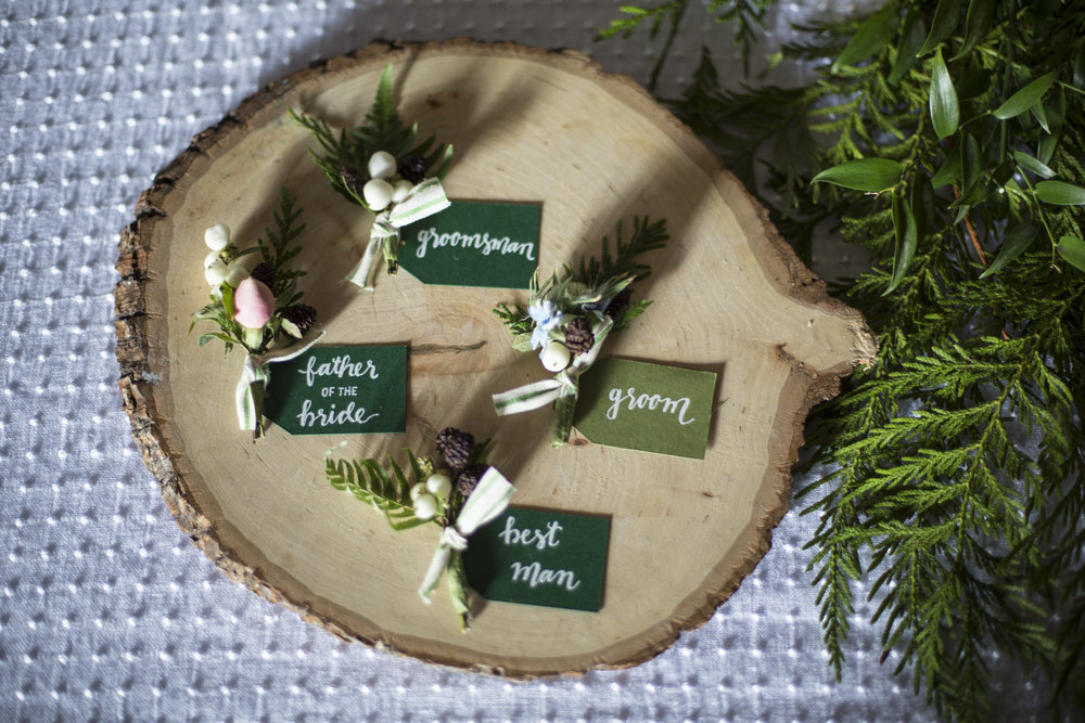 Wedding Boutonniere Tags