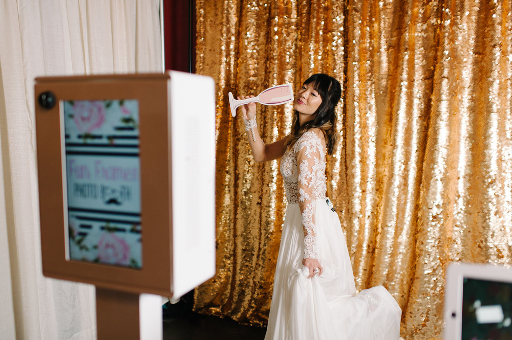 Gold Wedding Photobooth Back Drop