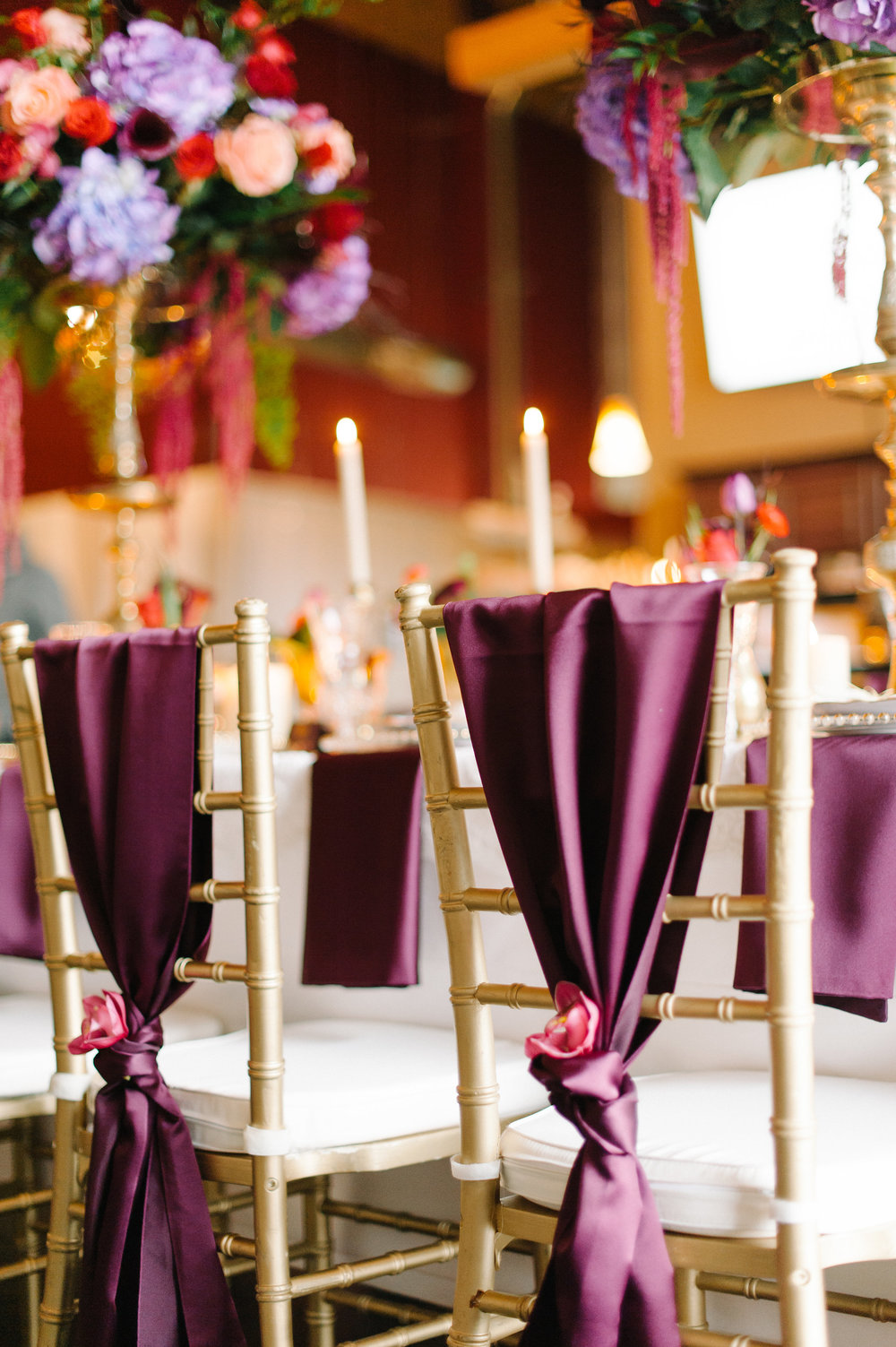Jewel Tone Wedding Table Setting