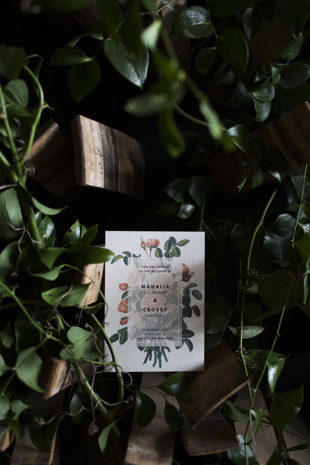 Wedding Invitation | Old World Botanical