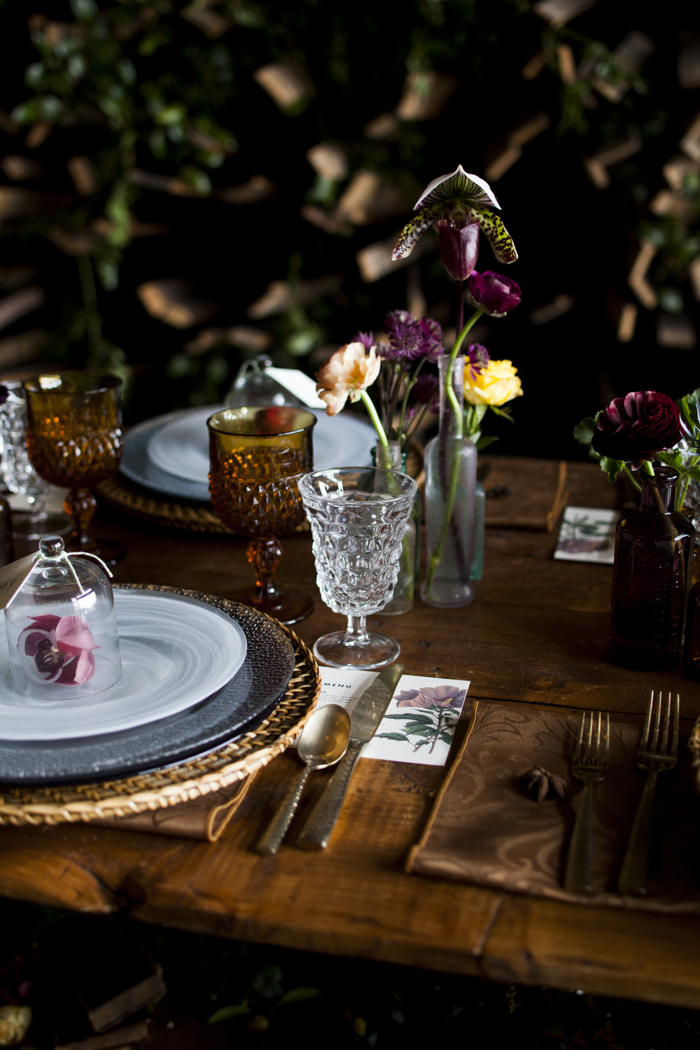 Wedding Table Setting | Old World Botanical Theme