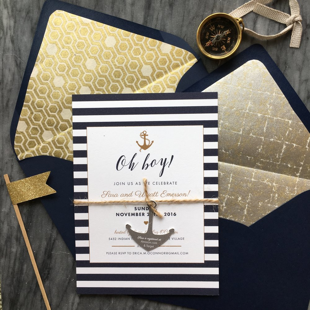 Our favorite nautical baby shower invites!