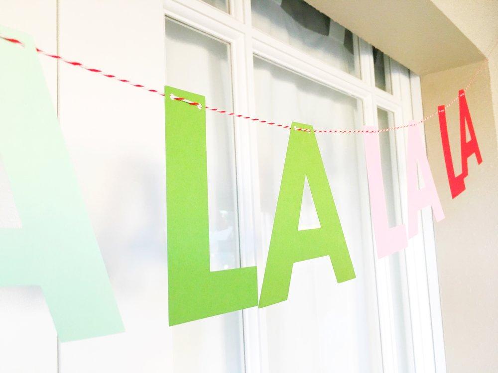 Fa La La La Christmas banner