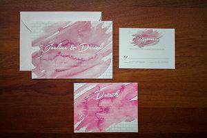 Wedding invitation gallery songbird paperie rose watercolor suite stopboris Images