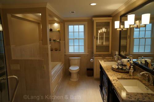 New custom master bath retreat lang 39 s kitchen bath for Custom master bathroom designs