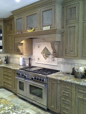 Kitchen design in New Hope, PA featuring under cabinet lighting.