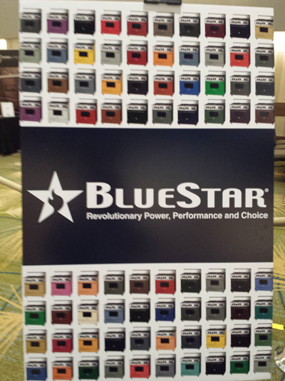 Colors of the Blue Star Range displayed at SEN 2015 Conference.