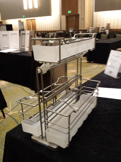 Hafele under sink pull out storage displayed at SEN 2015 Conference.