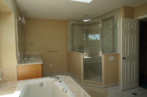 the master bathroom design in west windsor nj brings both luxurious additions and personal style touches to the newly remodeled space - Bathroom Design Nj