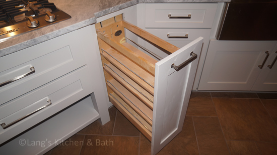 Kitchen design with storage accessory