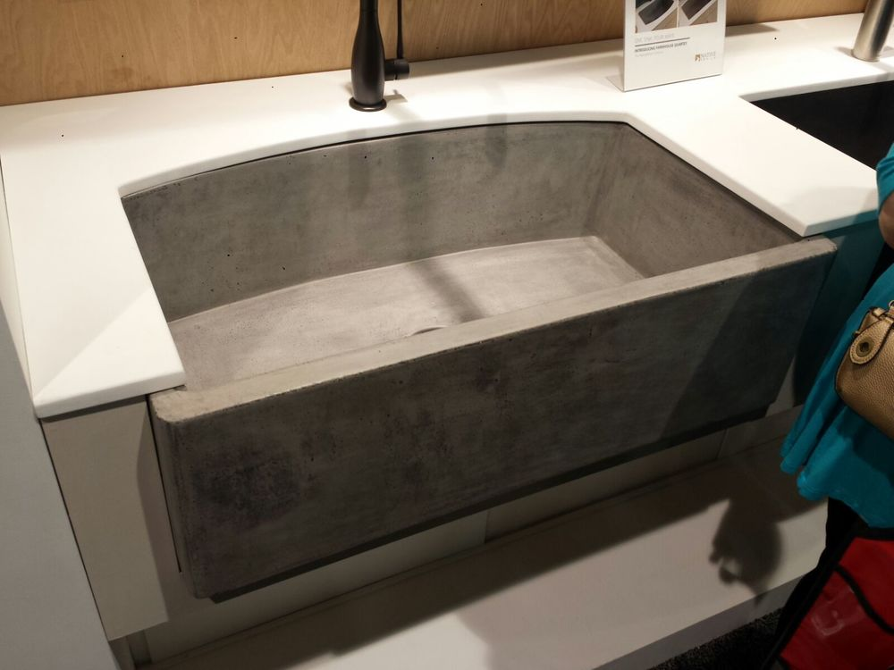 Concrete kitchen sink from Native Trails