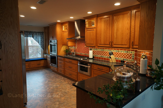 Southwestern style kitchen design.