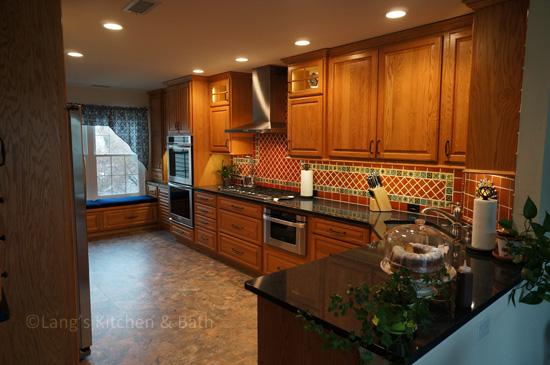 Southwestern style kitchen design.