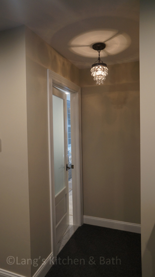 Entrance to master bath and closet.
