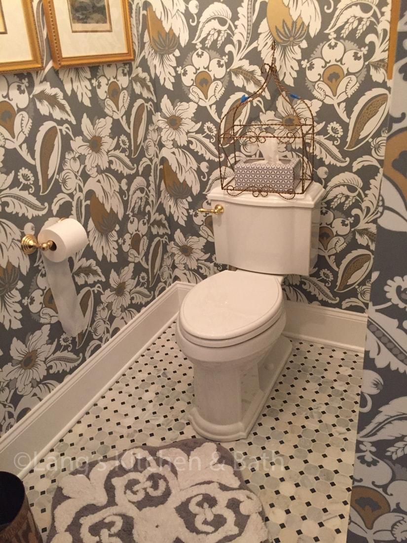 Elegant traditional powder room design