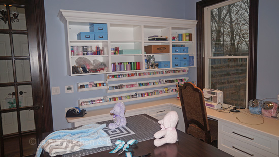 Craft room design with customized storage