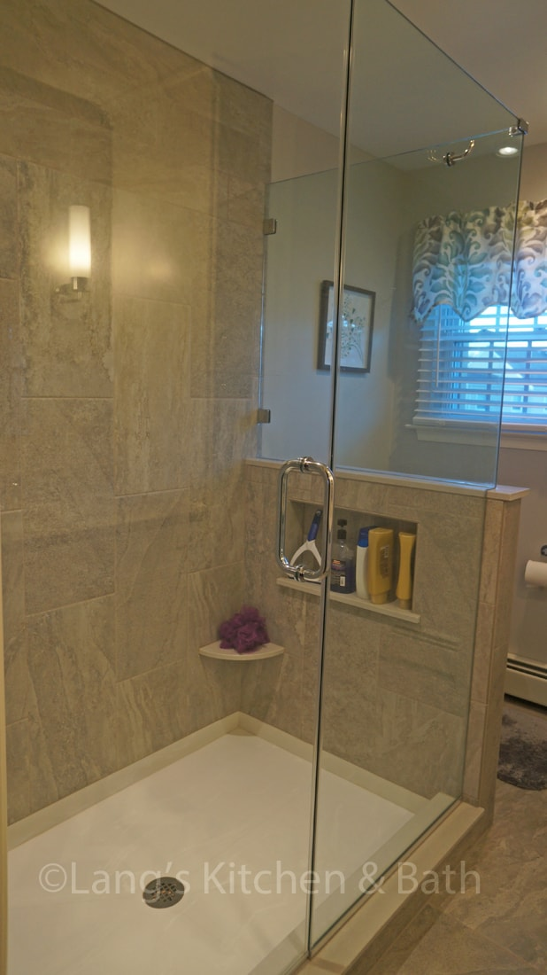 shower in master bath design