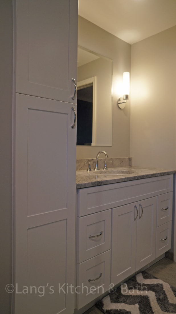 Vanity in master bath design