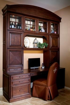 Kitchen design with built in desk