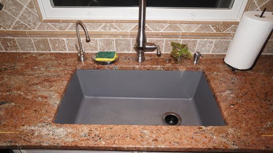 Kitchen design with composite sink