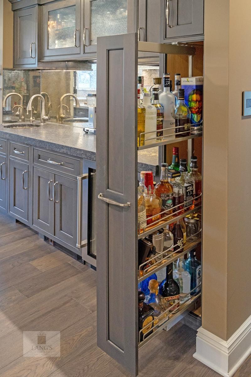 kitchen design with beverage center