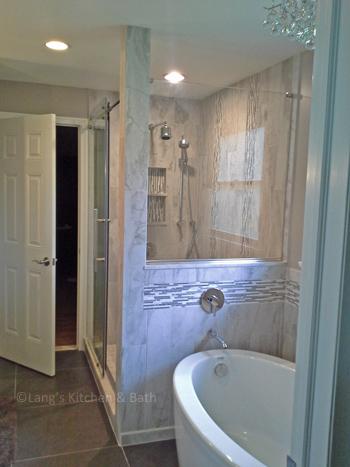 Yardley bath design with freestanding tub