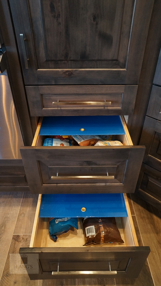 Pull out storage drawers