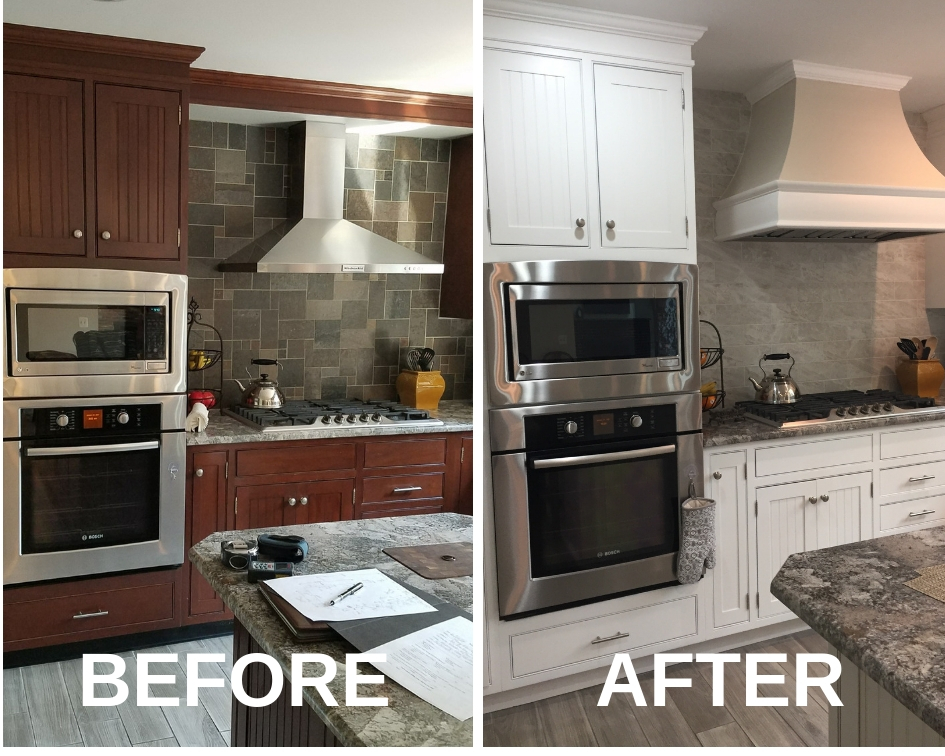 painted cabinets before and after