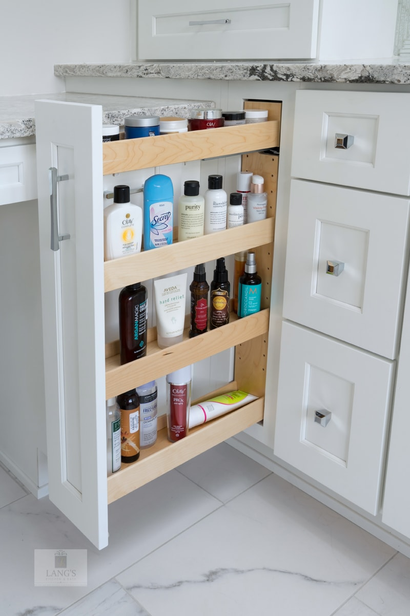 vanity with pull out storage accessories
