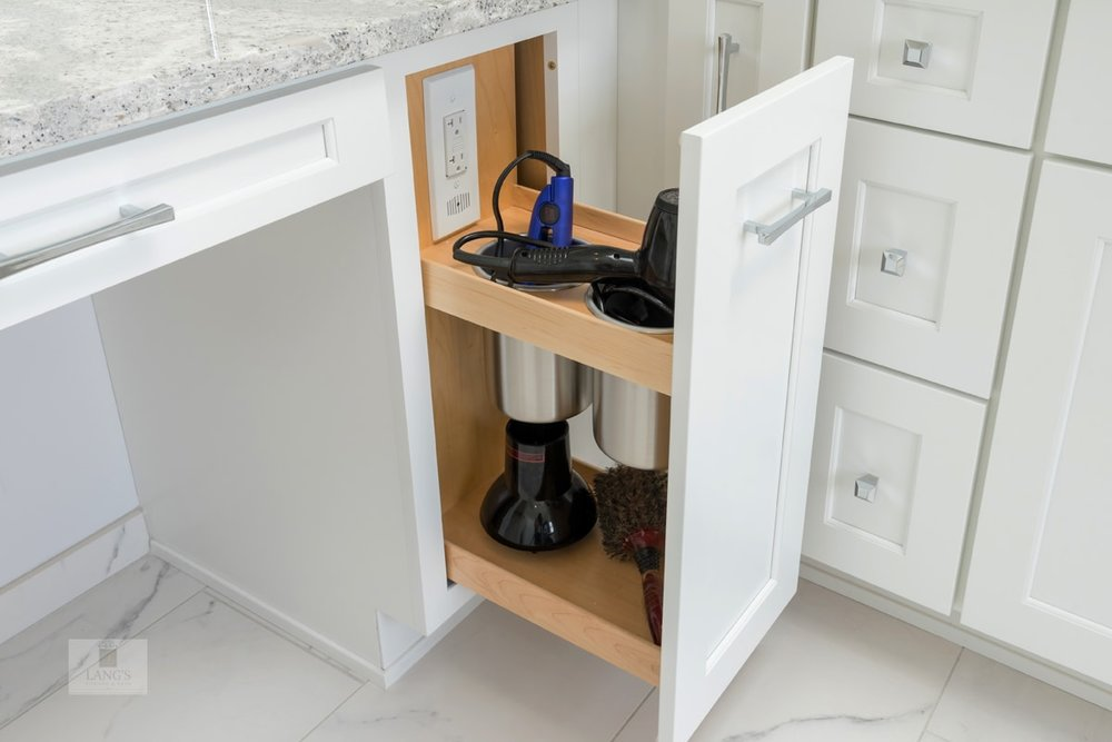 Vanity storage for electronics