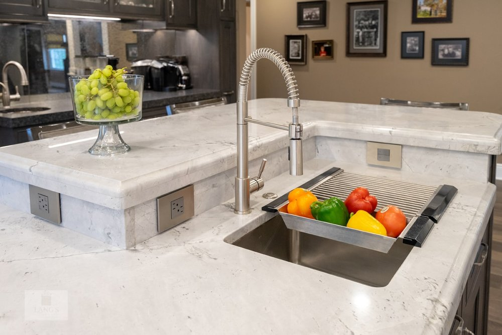 Yardley kitchen with chef's sink