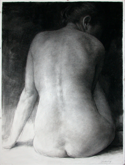"Woman: Back View  30"" x 22"""